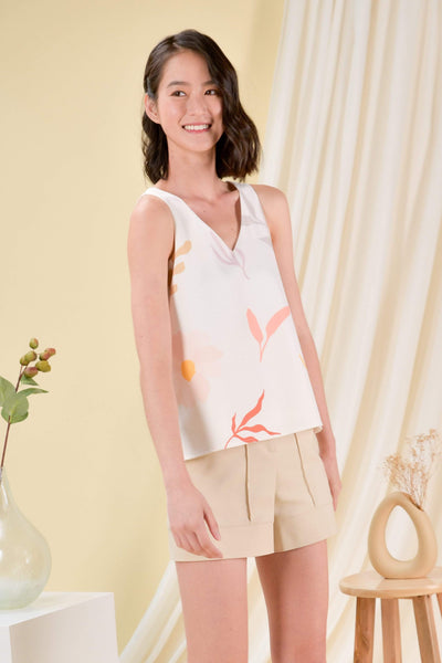 AWE Tops DAISY BLOOMS TWO-WAY TOP IN OFF-WHITE