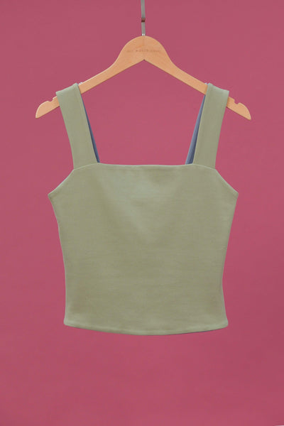 AWE Tops EVERYDAY REVERSIBLE TOP IN BLUE/SAGE