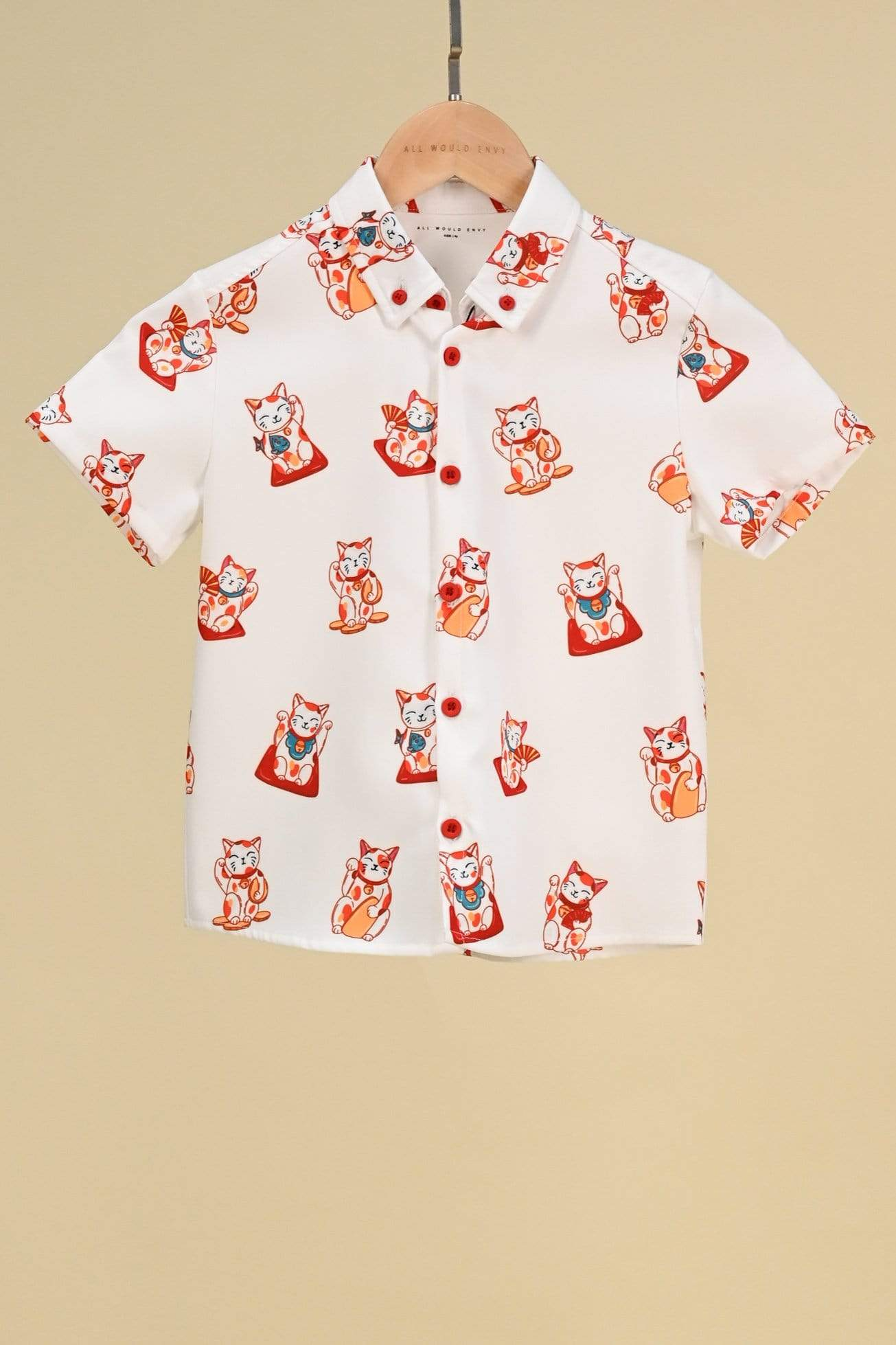FORTUNE CAT KIDS' SHIRT