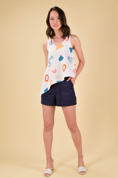 AWE Tops HAPPY ASYMMETRICAL TOP IN SHAPES