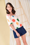 AWE Tops HAPPY SLEEVED TOP IN WHIMSICAL