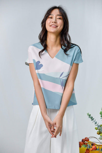 AWE Tops HORIZON SLEEVED TOP IN DUSK