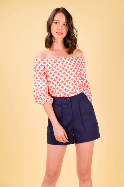 AWE Tops ICHIKA OFF-SHOULDER TOP IN CORAL