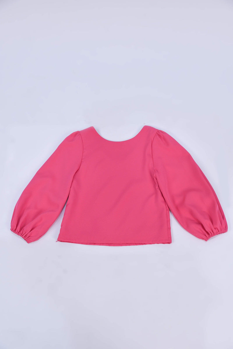 JANICKA TWO-WAY BALLOON SLEEVED TOP IN PINK