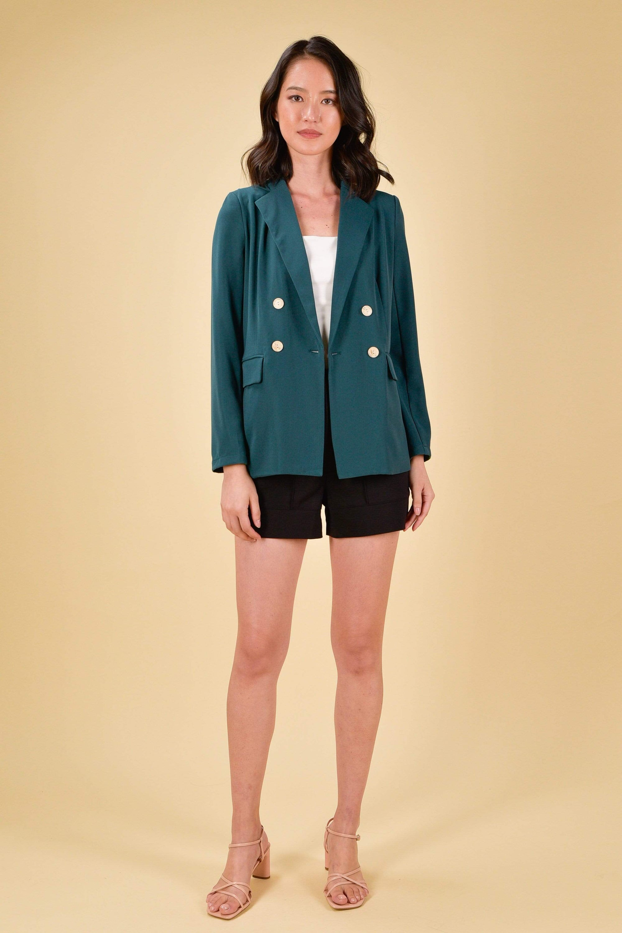 JOCINA DOUBLE-BREASTED BLAZER IN FOREST