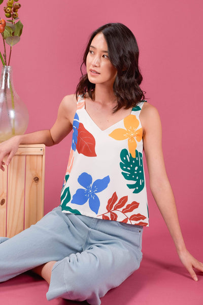 AWE Tops KINDRED TWO-WAY TOP IN VIBRANT