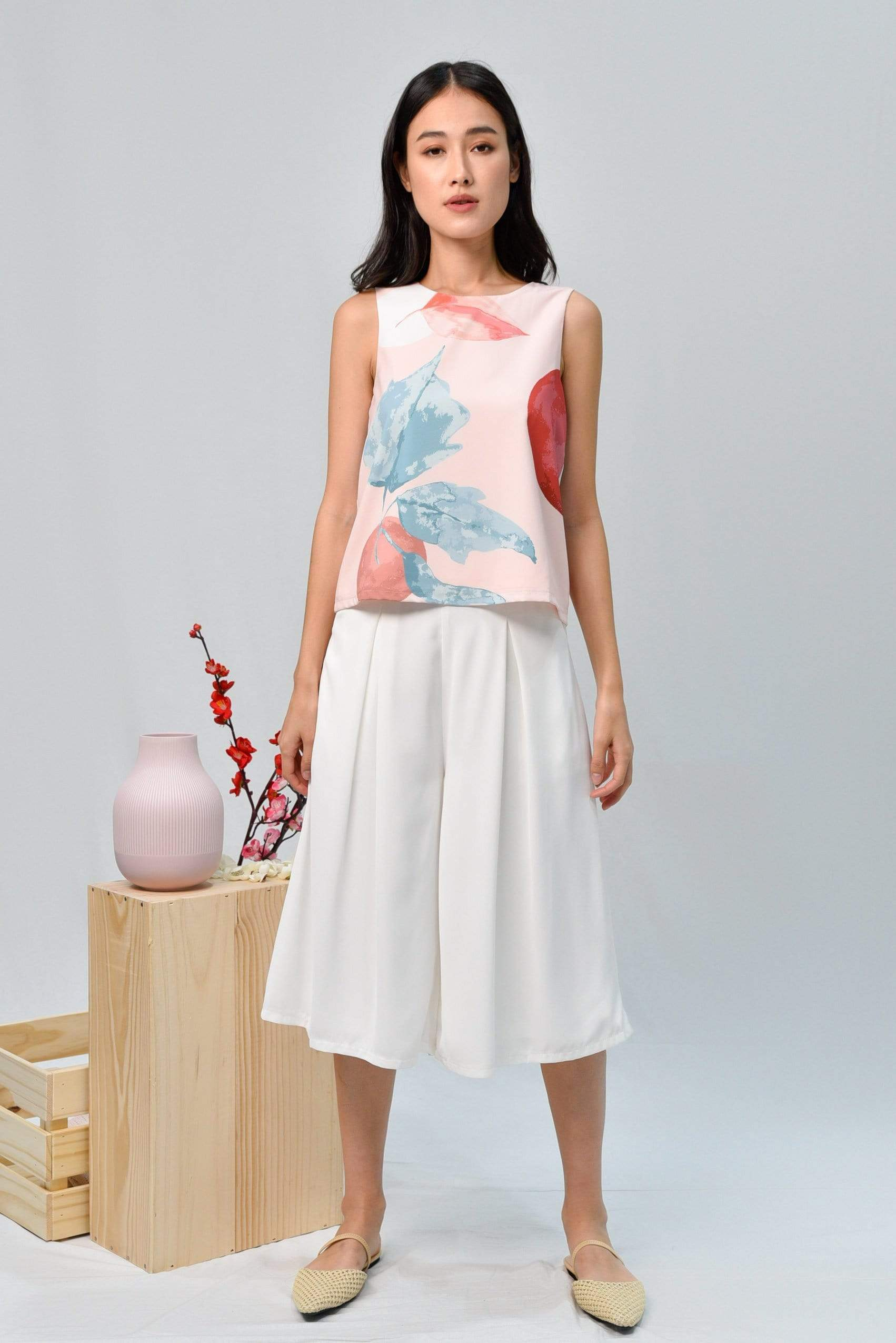 AWE Tops LUNAR SLEEVELESS TOP IN ROSE