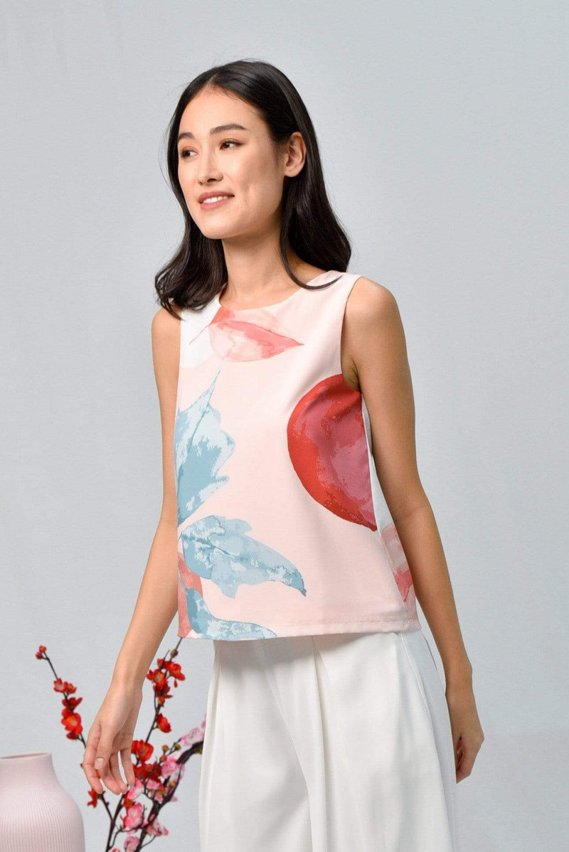 LUNAR SLEEVELESS TOP IN ROSE