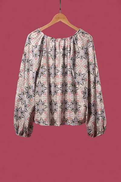 AWE Tops MARRAKESH BOHO TOP IN SAGE