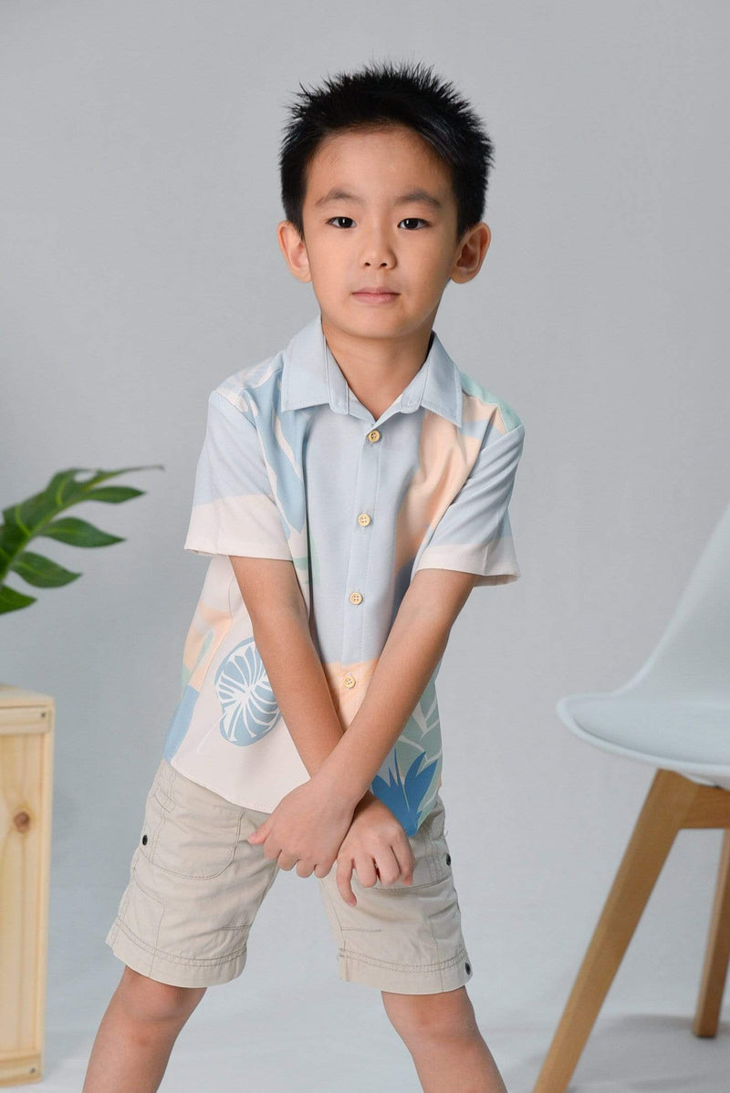 AWE Tops TROPICAL KIDS SHIRT IN SANTORINI