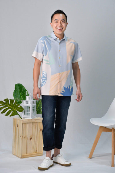AWE Tops TROPICAL SHIRT IN SANTORINI