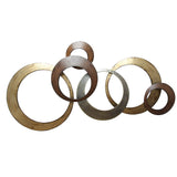 Metallic Rings Wall Decor (HH)