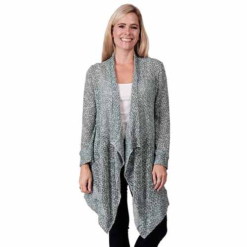 Le Moda Ladies Long Sleeve Cardigan (HH) at Linda Anderson. color_olive