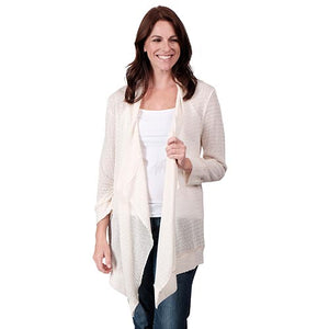 Le Moda Ladies Long Sleeve Cardigan (HH) at Linda Anderson. color_white