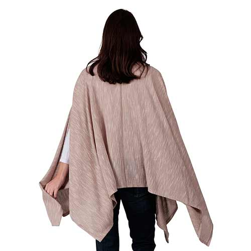 Le Moda Ladies Poncho with ethereal sleeves - One size at Linda Anderson. color_camel