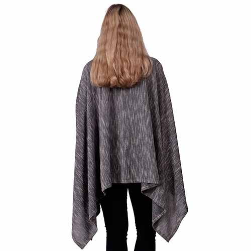Le Moda Ladies Poncho with ethereal sleeves - One size at Linda Anderson. color_grey
