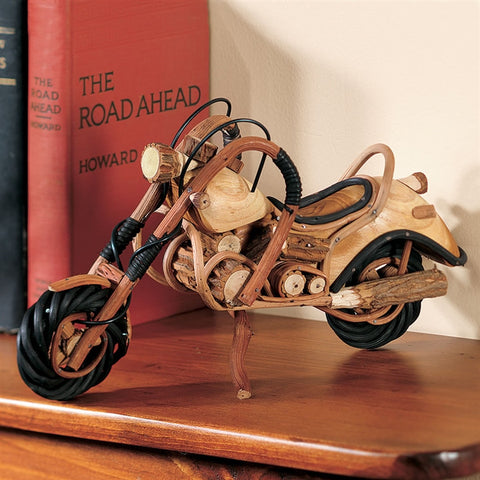 Handcrafted Wooden Motorcycle