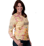 Load image into Gallery viewer, Womens Spring Sights Top- 100% Cotton Tee at Linda Anderson