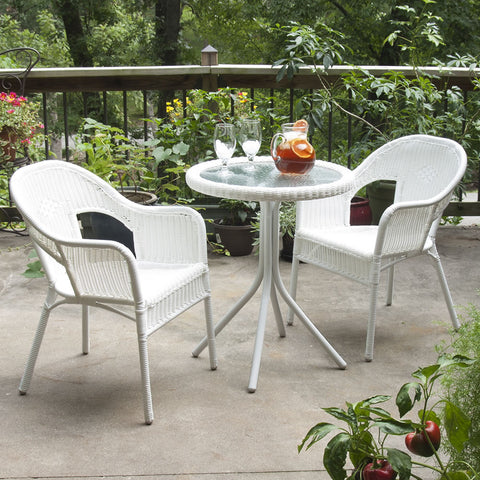 All-Weather 'Wicker' Bistro Set