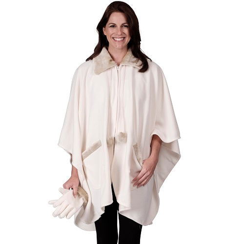 Zip Front Cape & Glove Set - One Size (AA)
