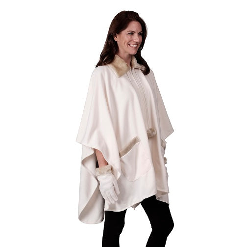 Zip Front Cape & Glove Set - One Size (AA) at Linda Anderson