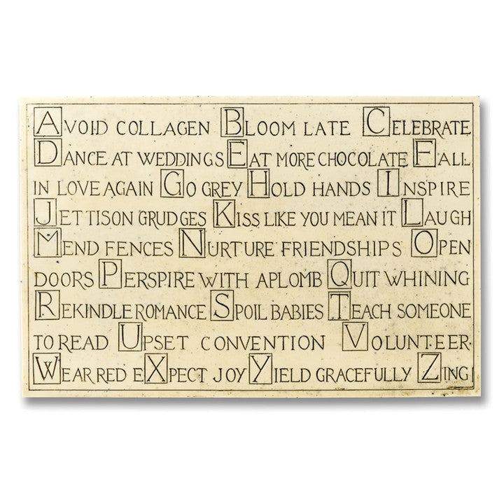 ABCs of Maturing Gracefully Plaque