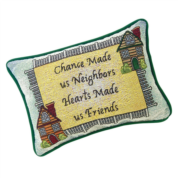 Neighbors & Friends Tapestry Pillow