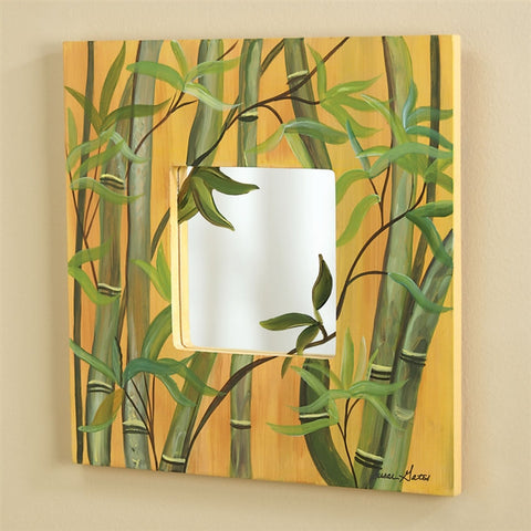 Bamboo Grove Painted Wood Mirror (NB)