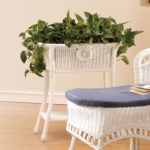 All-Weather Large Oval 'Wicker' Plant Stand