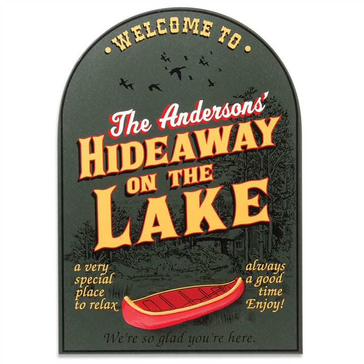 Personalized Lake Hideaway Sign