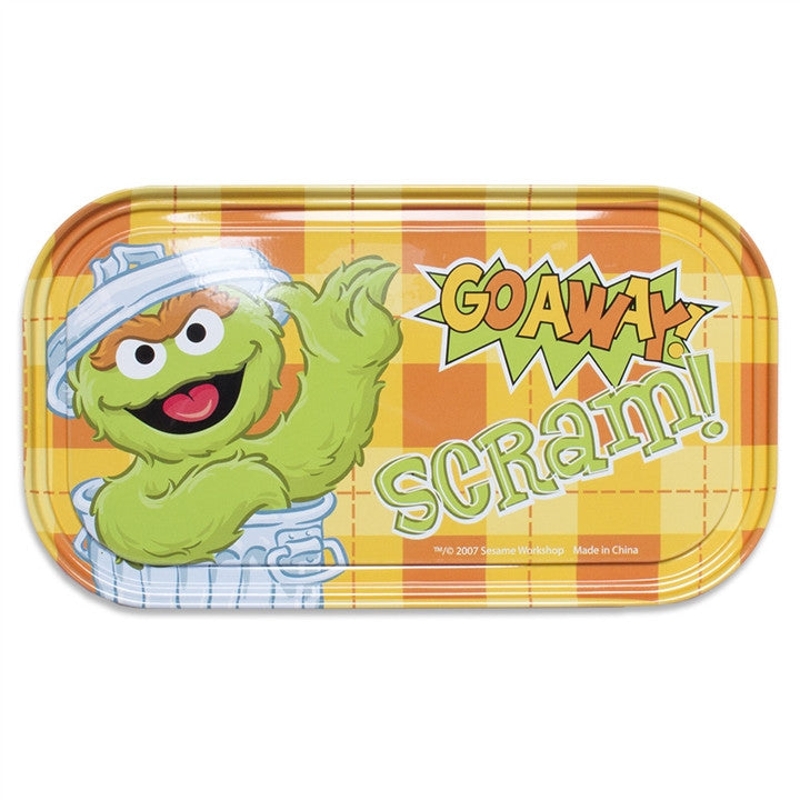 Oscar the Grouch 'Go Away Scram' Magnetic Tin Sign