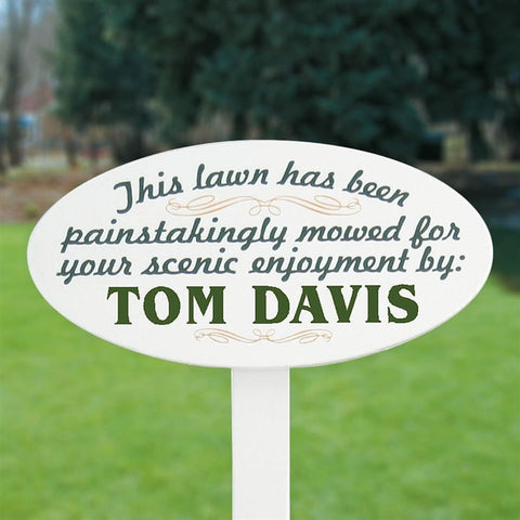 Personalized Lawn Stake Sign (25 Char)