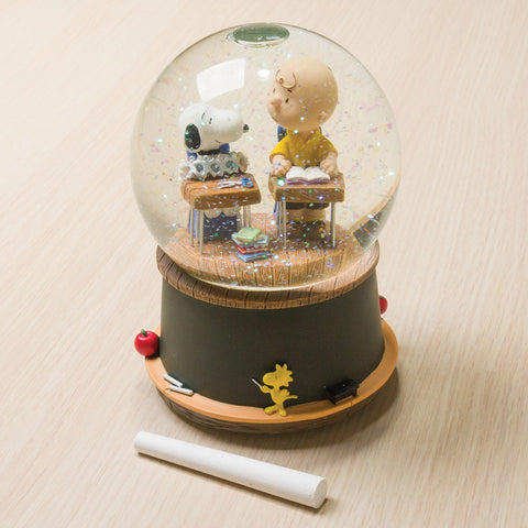 Snoopy & Charlie Brown Classroom Music Box Waterglobe (NB)