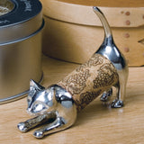 Playful Kitty Pewter Pet Cork Keeper