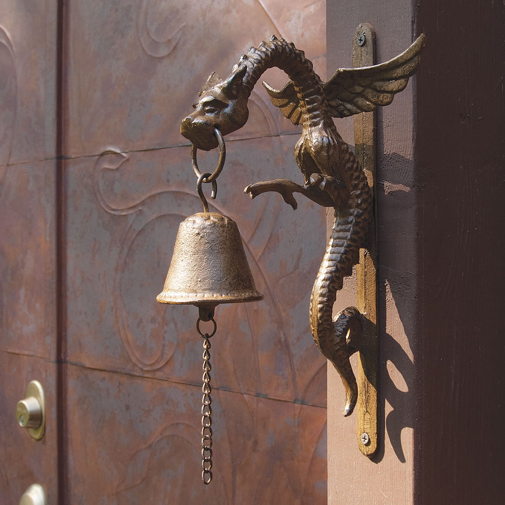 Iron Dragon Wall-Mounted Bell