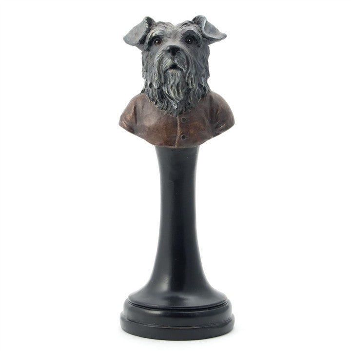 Terrier Bust on a Stand Figurine