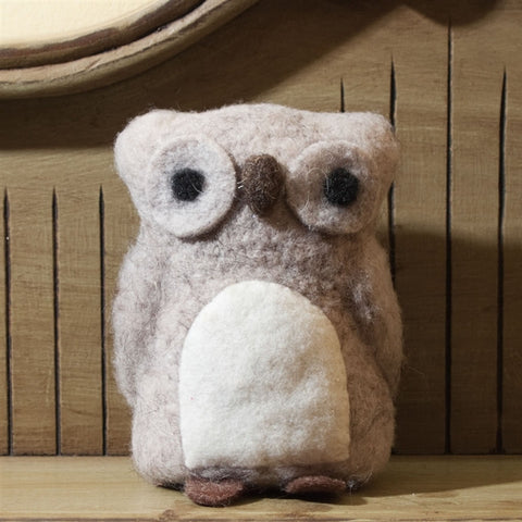 Felted Owl Figurine