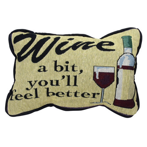 Wine A Bit Tapestry Pillow