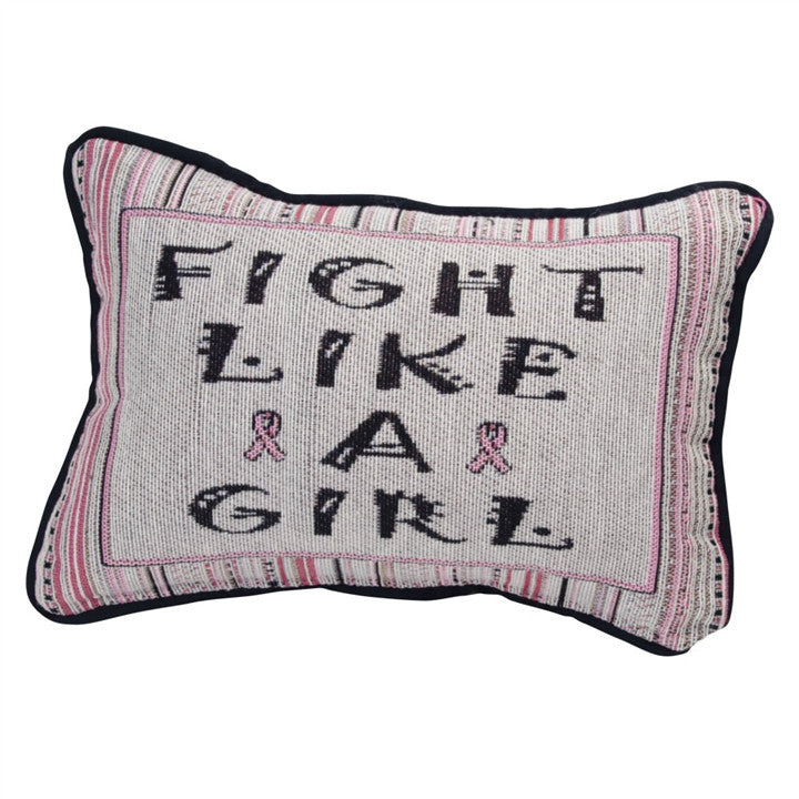 Fight Like A Girl Tapestry Pillow