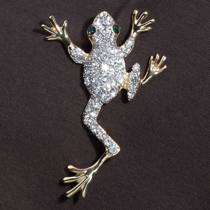 Crystal Climbing Tree Frog Pin