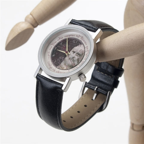 Leonardo da Vinci Backwards Watch