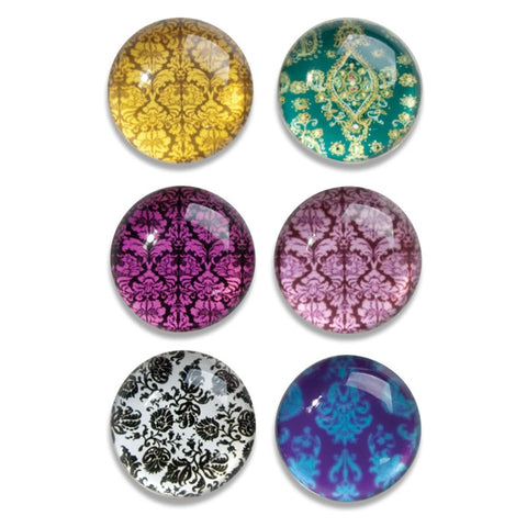 Wallpaper Glass Dome Magnets, Set of 6