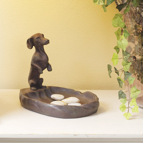 Dachshund On Duty Tray