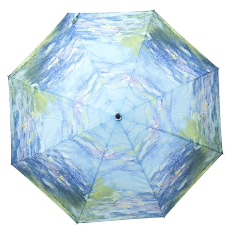 Monet's 'Water Lilies' Compact Umbrella