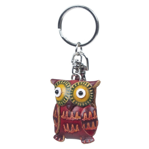 Leather Owl Keychain (NB)