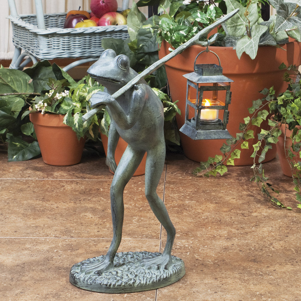 Lamplighter Frog Figurine