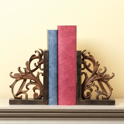 Scroll Bookends, Set of 2
