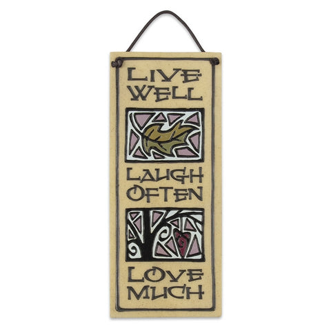 Live, Laugh, Love Wall Plaque (NB)