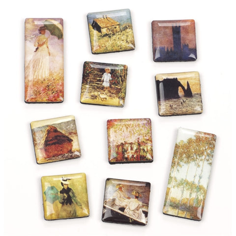Monet Paintings Magnets, Set of 10