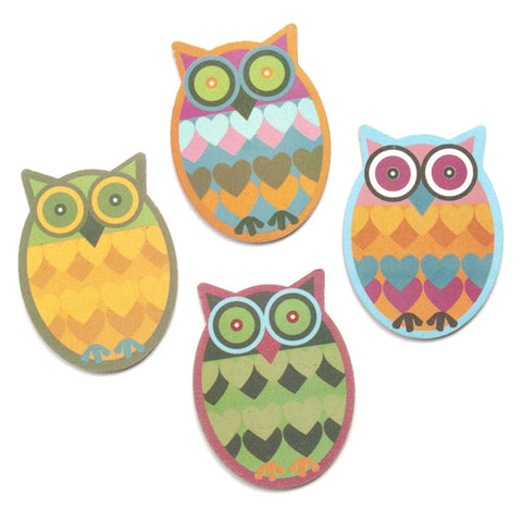 Owl Emery Boards, Set of 4